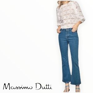 Massimo Dutti High Rise Ankle Flare Jeans